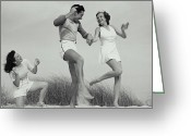 Young Men Greeting Cards - Beach Party Greeting Card by Archive Holdings Inc.