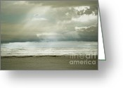 Autumn Photographs Greeting Cards - Beach Rays Greeting Card by Andrea Hazel Ihlefeld
