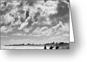 New Zealand Greeting Cards - Beach Riders Greeting Card by David Bowman