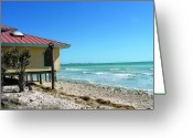 Florida House Greeting Cards - Beach Shack Greeting Card by Peter  McIntosh