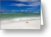 Blue Sky Photo Greeting Cards - Beach Splendour Greeting Card by Janet Fikar