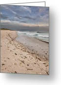 Melbourne Beach Greeting Cards - Beach Sunrise Greeting Card by Cheryl Davis
