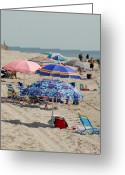 Long Beach Island Photos Greeting Cards - Beach Umbrella 27 Greeting Card by Joyce StJames