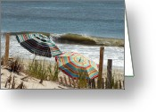 Long Beach Island Photos Greeting Cards - Beach Umbrella 36 Greeting Card by Joyce StJames