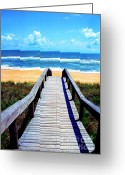 Vacation Destination Greeting Cards - Beach View Greeting Card by Thomas R Fletcher