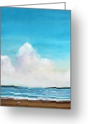 Sailboat Picture Greeting Cards - Beach Walk Greeting Card by Toni Grote