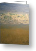 Art On Foam Greeting Cards - Beach Waves Greeting Card by Sarah Parks