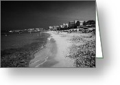 Fig Tree Greeting Cards - Beach With Hotels In Fig Tree Bay Protaras Republic Of Cyprus Europe Greeting Card by Joe Fox