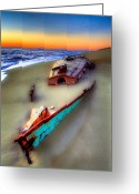 Acrylic Framed Greeting Cards - Beached Beauty Greeting Card by Dan Carmichael