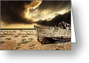 Pebbles Greeting Cards - Beached In Color Greeting Card by Meirion Matthias