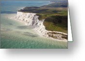Guidance Greeting Cards - Beachy Head At High Tide Greeting Card by Christopher Hope-Fitch