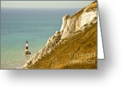 D700 Greeting Cards - Beachy Head Lighthouse Greeting Card by Donald Davis