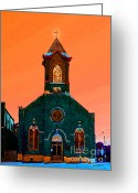 Sanctified Greeting Cards - Beacon Light Greeting Card by Albert Stewart