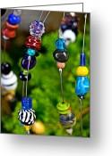 Glass Beads Greeting Cards - Beads of Glass Greeting Card by Gallery Three