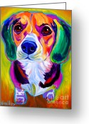 Beagle Greeting Cards - Beagle - Molly Greeting Card by Alicia VanNoy Call