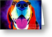 Beagle Greeting Cards - Beagle - Saphira Greeting Card by Alicia VanNoy Call