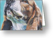 Beagle Greeting Cards - Beagle Greeting Card by L A Shepard