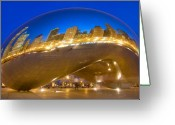 Dusk Greeting Cards - Bean Reflections Greeting Card by Donald Schwartz