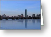 Photography Greeting Cards - Beantown on Ice Greeting Card by Juergen Roth
