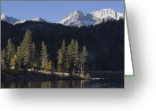Abbot Greeting Cards - Bear Creek Spire And Mount Abbot Greeting Card by Rich Reid