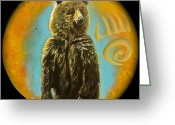 Shaman Drum Greeting Cards - Bear  Greeting Card by Ethan  Foxx