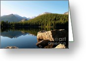 Water Bear Greeting Cards - Bear Lake reflections in Colorado Greeting Card by Alex Cassels