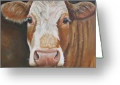 Cow Greeting Cards - Bear Greeting Card by Laura Carey
