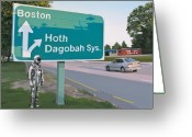 Street Greeting Cards - Bear Right For Hoth Greeting Card by Scott Listfield