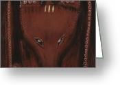 Great Painting Greeting Cards - Bear Greeting Card by Sophy White
