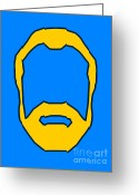 Generated Greeting Cards - Beard Graphic  Greeting Card by Pixel Chimp