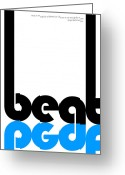 Listening Greeting Cards - Beat Poster Greeting Card by Irina  March