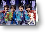 Beatles Greeting Cards - Beatles - Walk Away Greeting Card by Ross Edwards