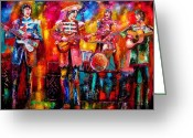 Ringo Starr Greeting Cards - Beatles Hello Goodbye Greeting Card by Leland Castro