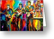Ringo Starr Greeting Cards - Beatles  Greeting Card by Leland Castro