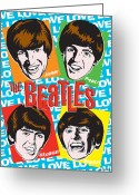 Paul Mccartney  Greeting Cards - Beatles Pop Art Greeting Card by Jim Zahniser