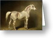 Hay Painting Greeting Cards - Beatrice Greeting Card by Carl Constantin Steffeck