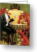 Magic Trick Greeting Cards - Beats the Devil Greeting Card by Unknown