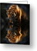 Strips Greeting Cards - Beautiful Animal Greeting Card by Kym Clarke