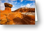 Toadstools Greeting Cards - Beautiful Badlands Greeting Card by James Marvin Phelps