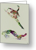 Romantic Greeting Cards - Beautiful Ballet Greeting Card by Irina  March