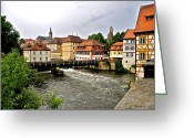 Bamberg Greeting Cards - Beautiful Bamberg on the River Greeting Card by Kirsten Giving