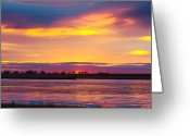 Sunset Posters Greeting Cards - Beautiful Colorful Boulder County Winter Morning Greeting Card by James Bo Insogna