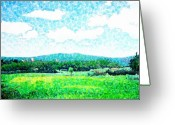 Air Mixed Media Greeting Cards - Beautiful Day in Tuscany  Greeting Card by Jason Allen