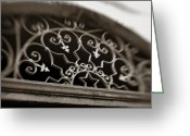 Scroll-work Greeting Cards - Beautiful Door Decoration Greeting Card by Marilyn Hunt