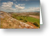 Kinvarra Greeting Cards - Beautiful Glen Hill Greeting Card by John Quinn