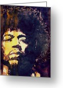 Jimi Hendrix Painting Greeting Cards - Beautiful Haze Greeting Card by Paul Lovering
