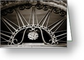 Scroll-work Greeting Cards - Beautiful Italian Metal Scroll Work 2 Greeting Card by Marilyn Hunt