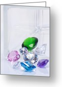 Transparent Green Greeting Cards - Beautiful Jewel Greeting Card by Atiketta Sangasaeng
