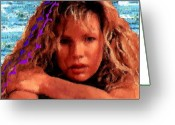 Kim Basinger Greeting Cards - Beautiful Kim Greeting Card by Navo Art
