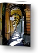 Archways Greeting Cards - Beautiful old Architecture Greeting Card by Kaye Menner